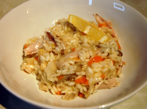 Post image for spring chicken risotto
