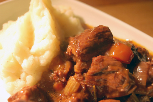 Post image for lamb, rosemary and red wine stew