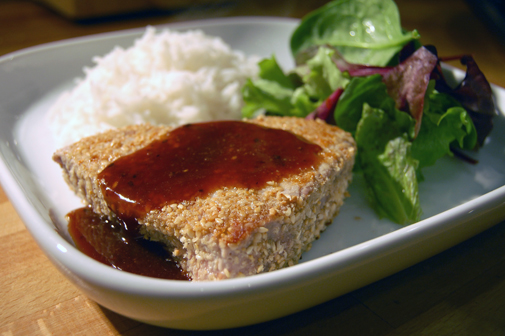 Post image for sesame-crusted tuna with a honey glaze
