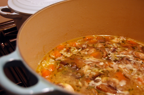 Post image for therapeutic soup, and the importance of a good casserole dish